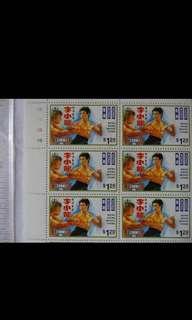 香港李小龍任劍輝梁醒波林黛經典明星郵票四款 Bruce Lee Lin Dai Leung Sing Por Yam Kim Fai Hong Kong movie star stars stamp hk