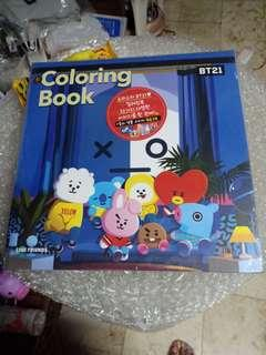 BT21 Coloring book sealed!!