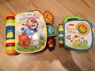 Vtech and fisherprice rhyme and discover book