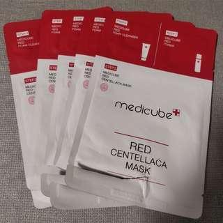 brand new assorted medicube foam shower and toner samples (: