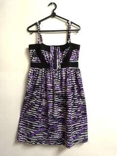 🚚 Purple Spaghetti Strap Dress