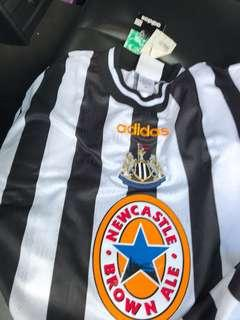 Originala deadstock NOS newcastle united adidas 1998 jersey jersi XL