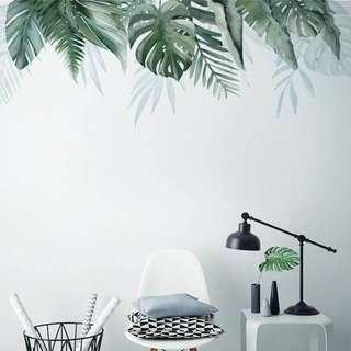 INS Tropical Leaves Wall Stickers