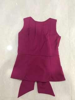 Pink backless top