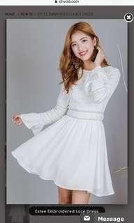 Ohvola Estée embroidered lace dress