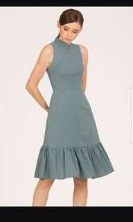 BNWT Doublewoot DOLALIN Cheong Sam dress (DENIM BLUE)