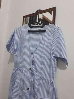 Dress Stripe Blu Monomolly
