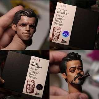 Original Picky Finger Tony Stark n Peter Parker Headsculpt