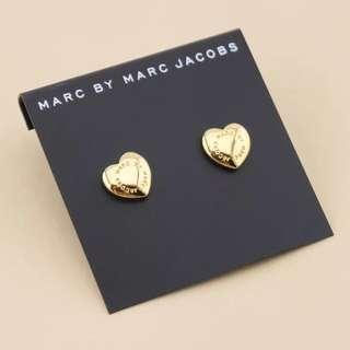 Marc by Marc Jacob's heart shape earrings
