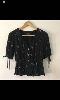Bnew TOPSHOP Black Top