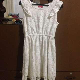White lace dress by red label
