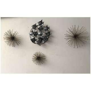 pajangan metal, pajangan rumah, hobby mancing, hadiah seni, 3D bagus & baru