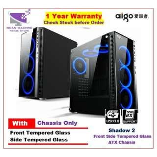 #Aigo Shadow 2 ATX Front Side Tempered Glass Gaming Chasis