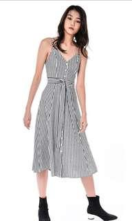 TEM The Editors Market Delfino Midi Stripe Dress