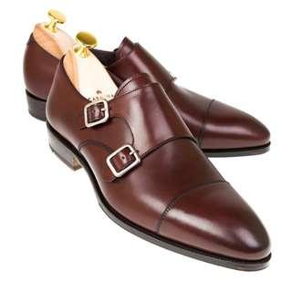 CREMADES DOUBLE MONK STRAP IN BURGUNDY