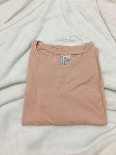 H&M light pink t-shirt dress