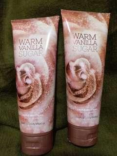 bath and body works~body cream(warm vanilla sugar),total 2支