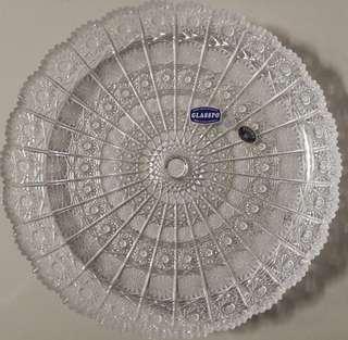 Large Bohemian Crystal Plate