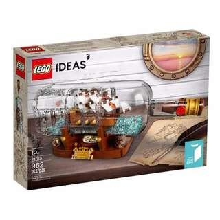 Leeogel Lego 21313 Ideas Ship In A Bottle - New In Sealed Box