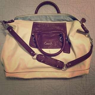 Authentic Coach Ashley Carryall Leather Bag