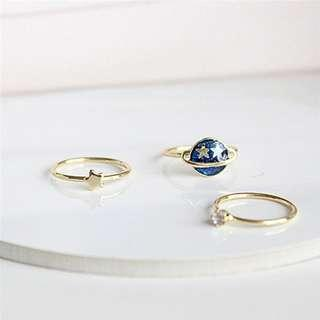 Planet Ring Set of 3