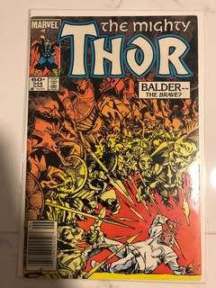 The Mighty Thor #344 - 1st appearance of Malekith (Newstand Edition)