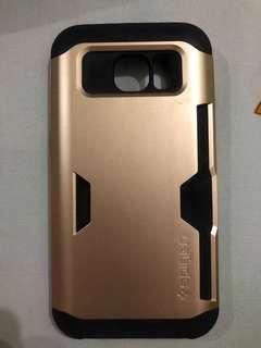 Softcase/Hardcase Samsung S7 Edge merk Spigen