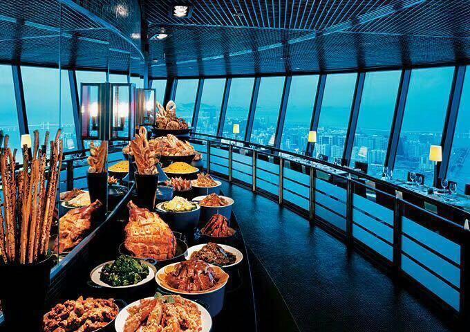 🏅全旅打—澳門觀光塔360度旋轉餐廳自助餐!(送觀光層門票)