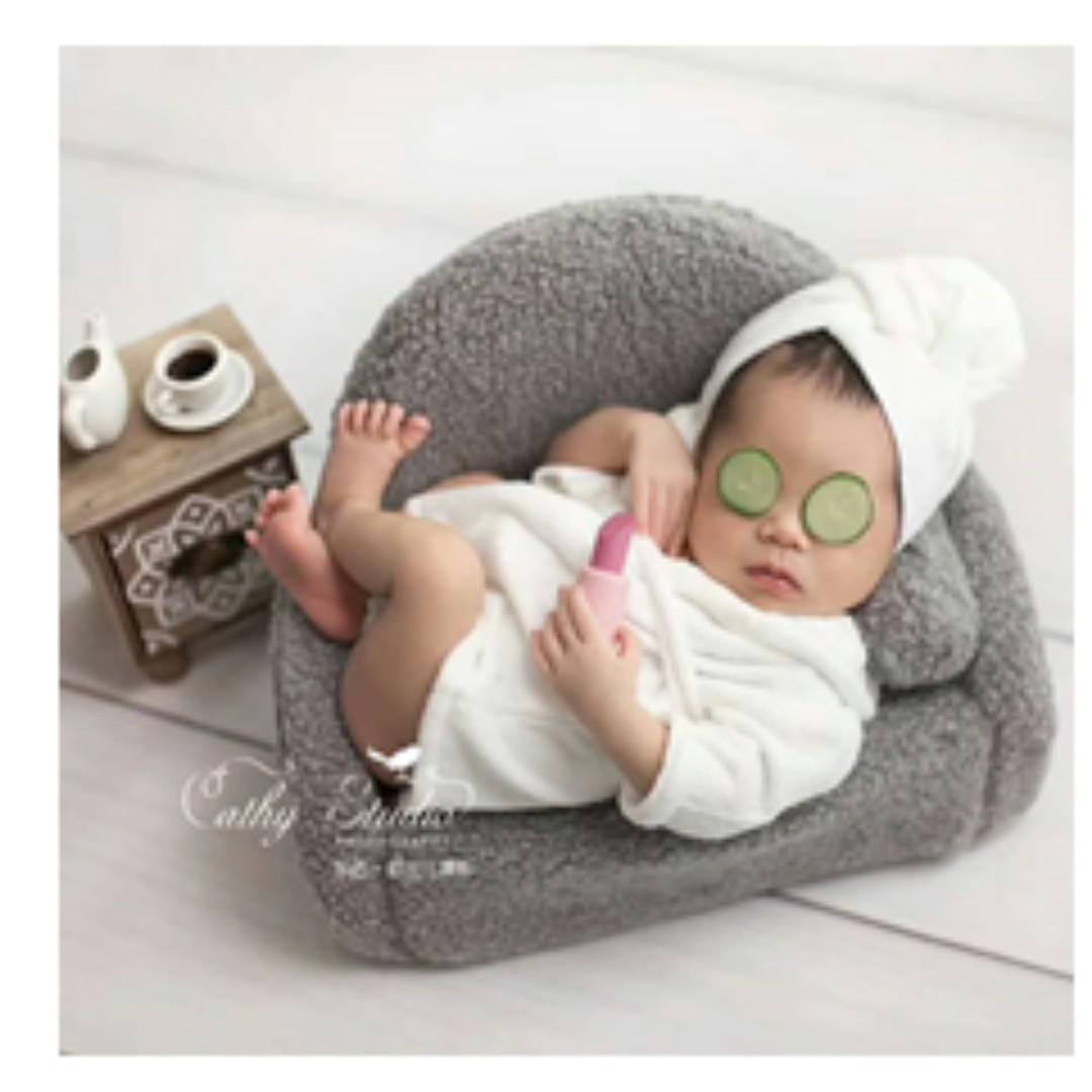 新生兒嬰兒兒童寶寶攝影服裝拍攝百天拍照拍照道具創意主題寫真浴袍