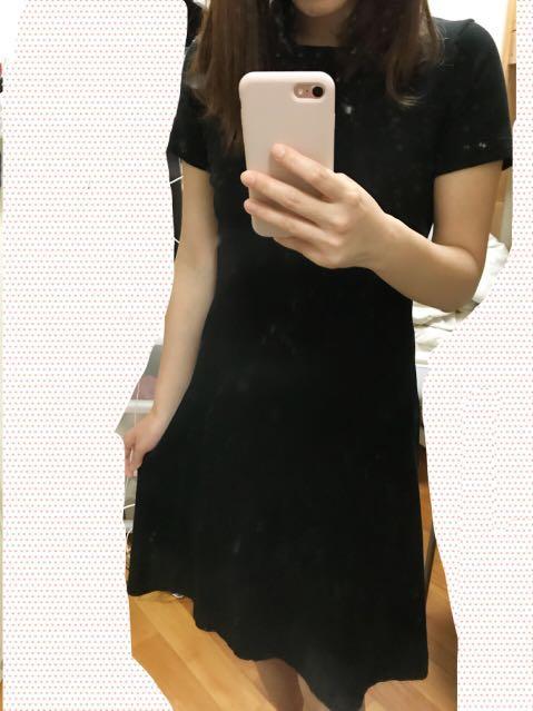 全新黑色針織連身裙