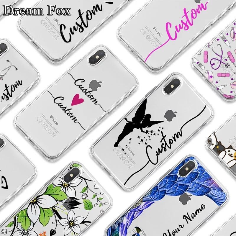 Diy Name Custom Design Print Case Cover For Iphone Xr Xs Max