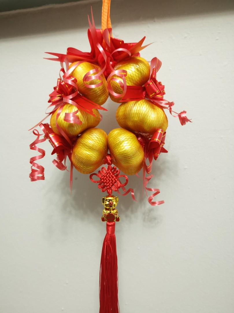 招财蒜 Golden Garlic Chinese New Year Decoration, Design ...