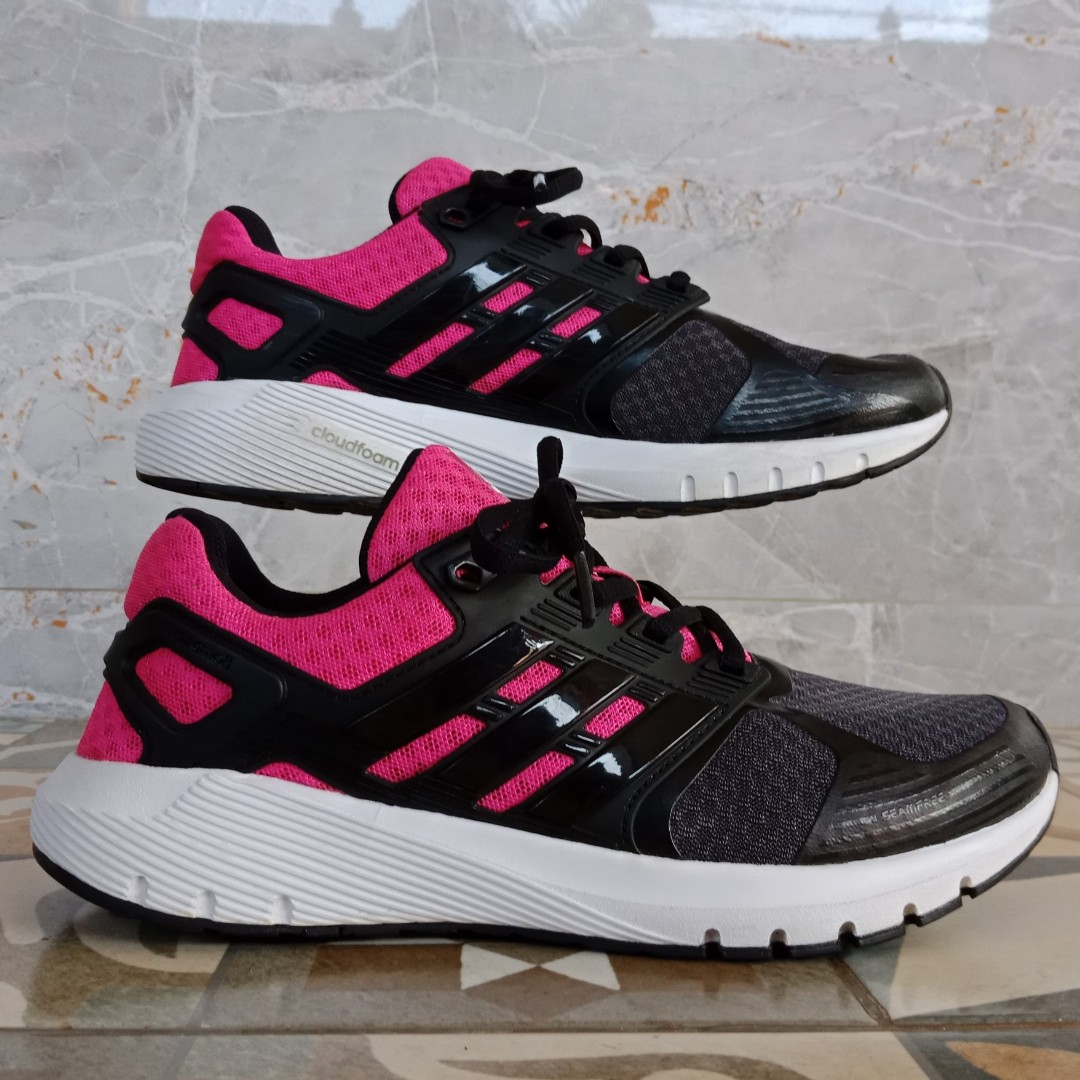 Adidas Duramo 8 (balck pink) / running shoes / sepatu olahraga (100% original), Women's Fashion, Women's Shoes on Carousell