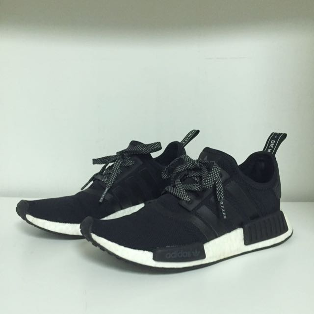 new arrival a31b1 73cd1 ADIDAS ORIGINALS NMD R1 Black White, Women s Fashion, Shoes on Carousell