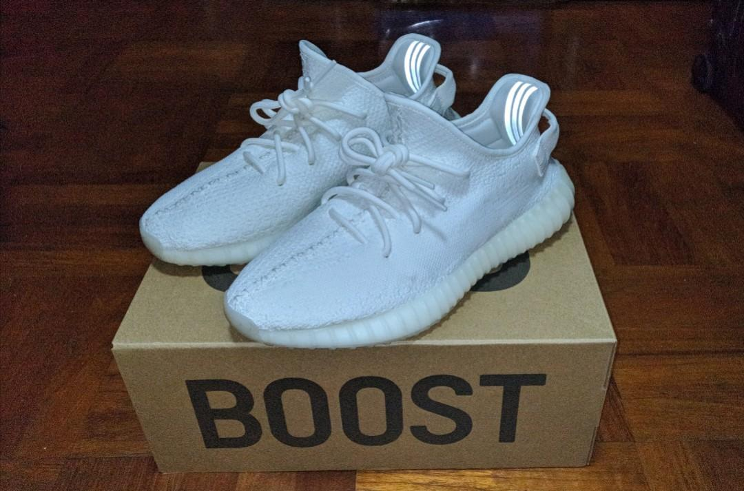 100% authentic 641bc 26567 Adidas Yeezy Boost 350 V2 Cream White, Men's Fashion ...