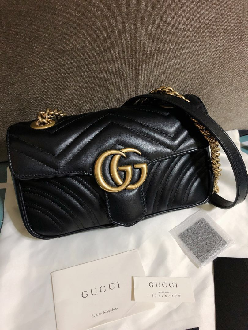 6108b0186 Almost new gucci marmont mini 22cm, Luxury, Bags & Wallets, Handbags ...