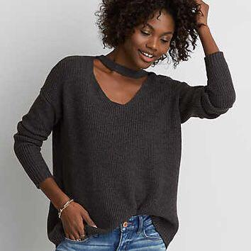 American Eagle Grey Sweater size S