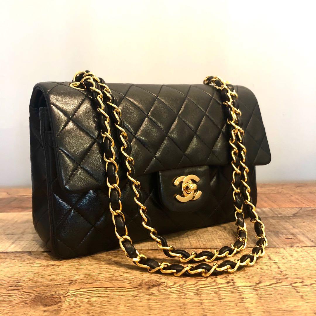 fd926ebddd62 Authentic Chanel 9 Inch Classic Flap Bag w 24k Gold Hardware, Luxury ...