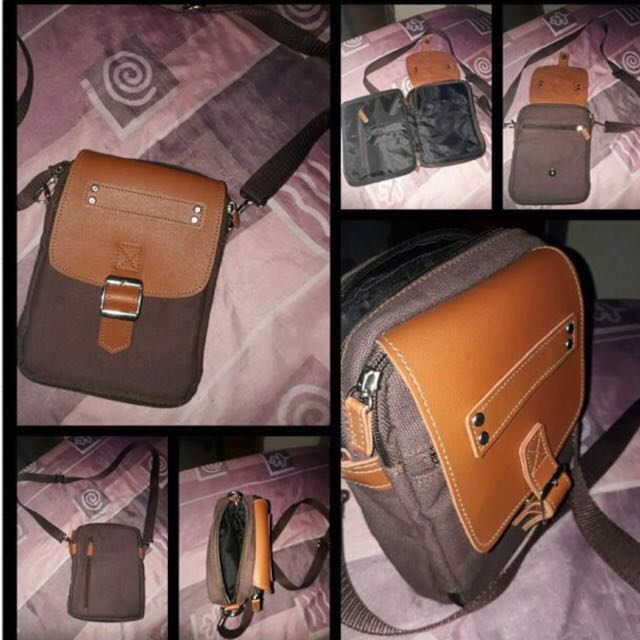 e24818fc9545 AUTHENTIC MARIKINA MADE LEATHER SLING BAG (BROWN)