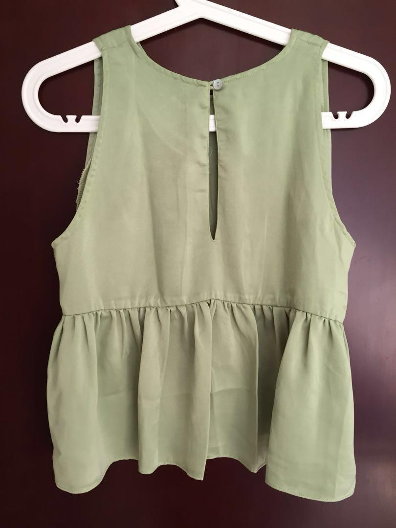 Babydoll top green #yukjualan