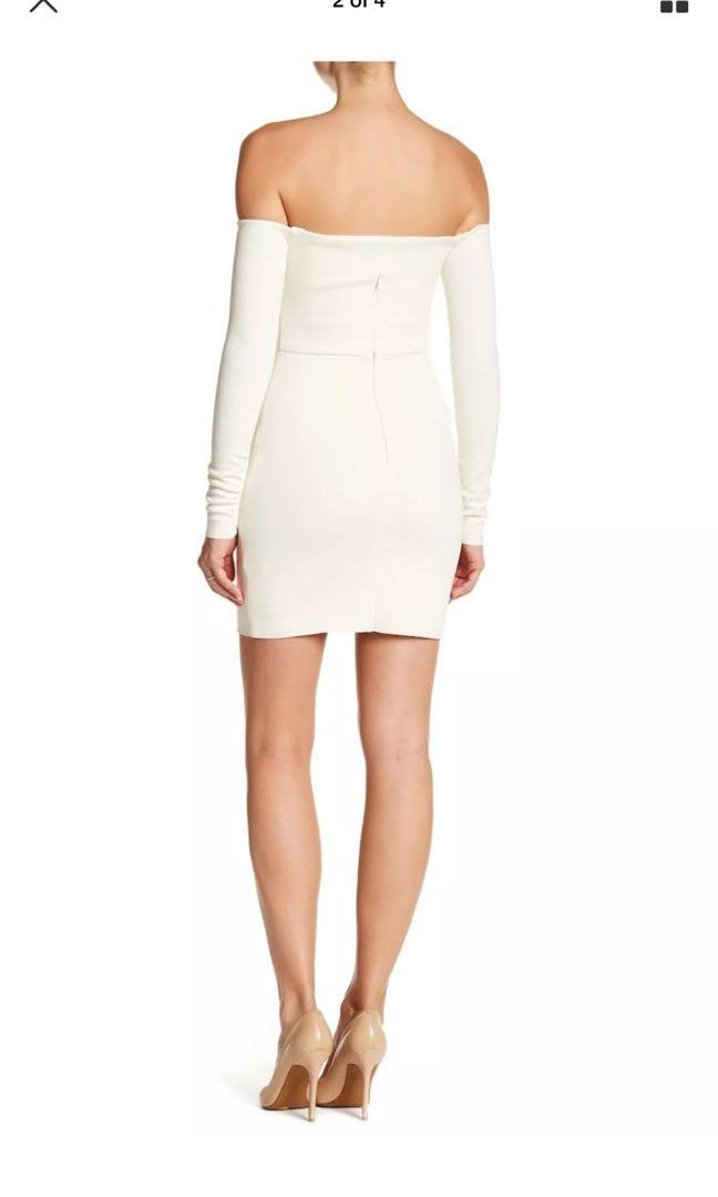 Bec and bridge natures element long sleeve off the shoulder dress sz8