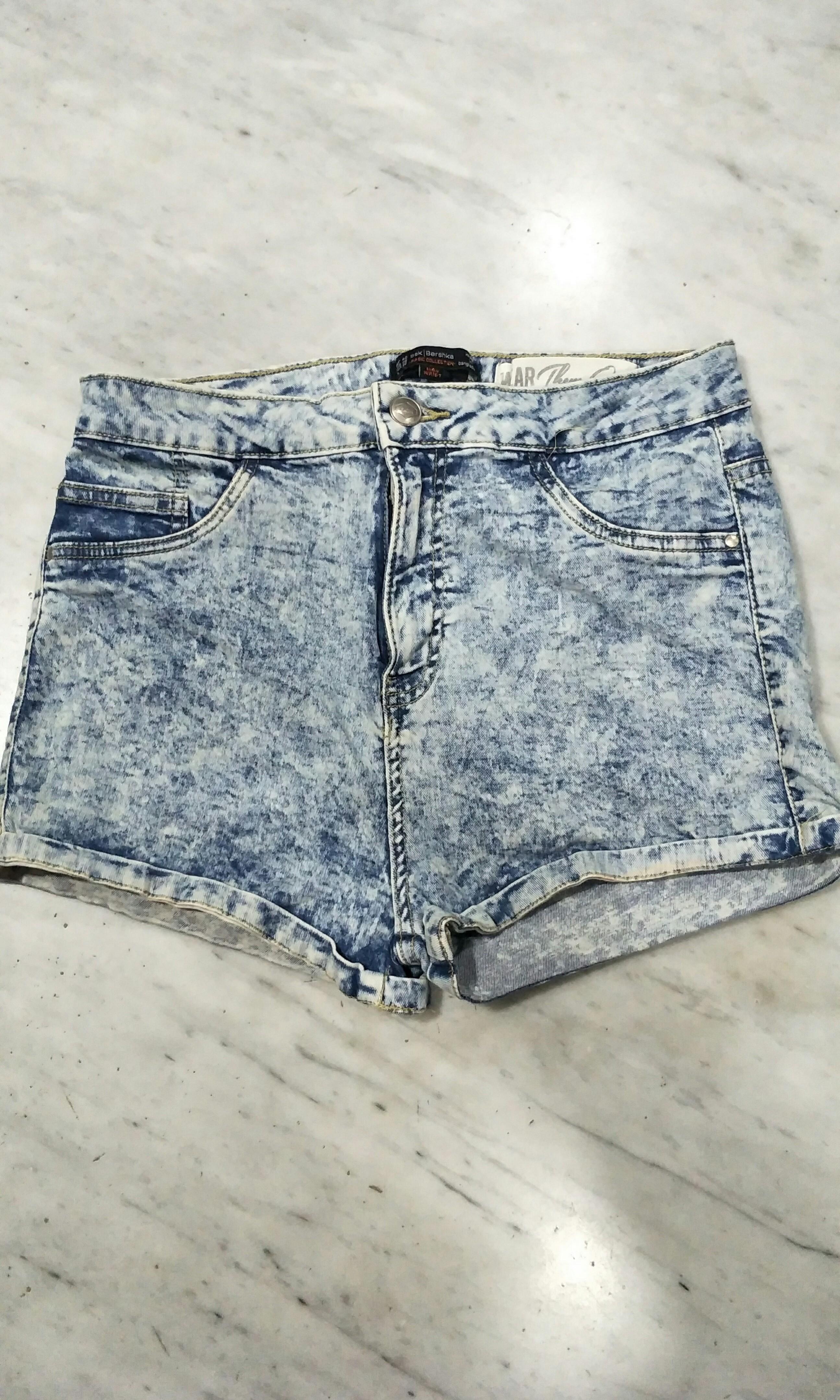 7b4ffa2ab5b5 Bershka High Waisted Denim Shorts, Women's Fashion, Clothes, Pants ...