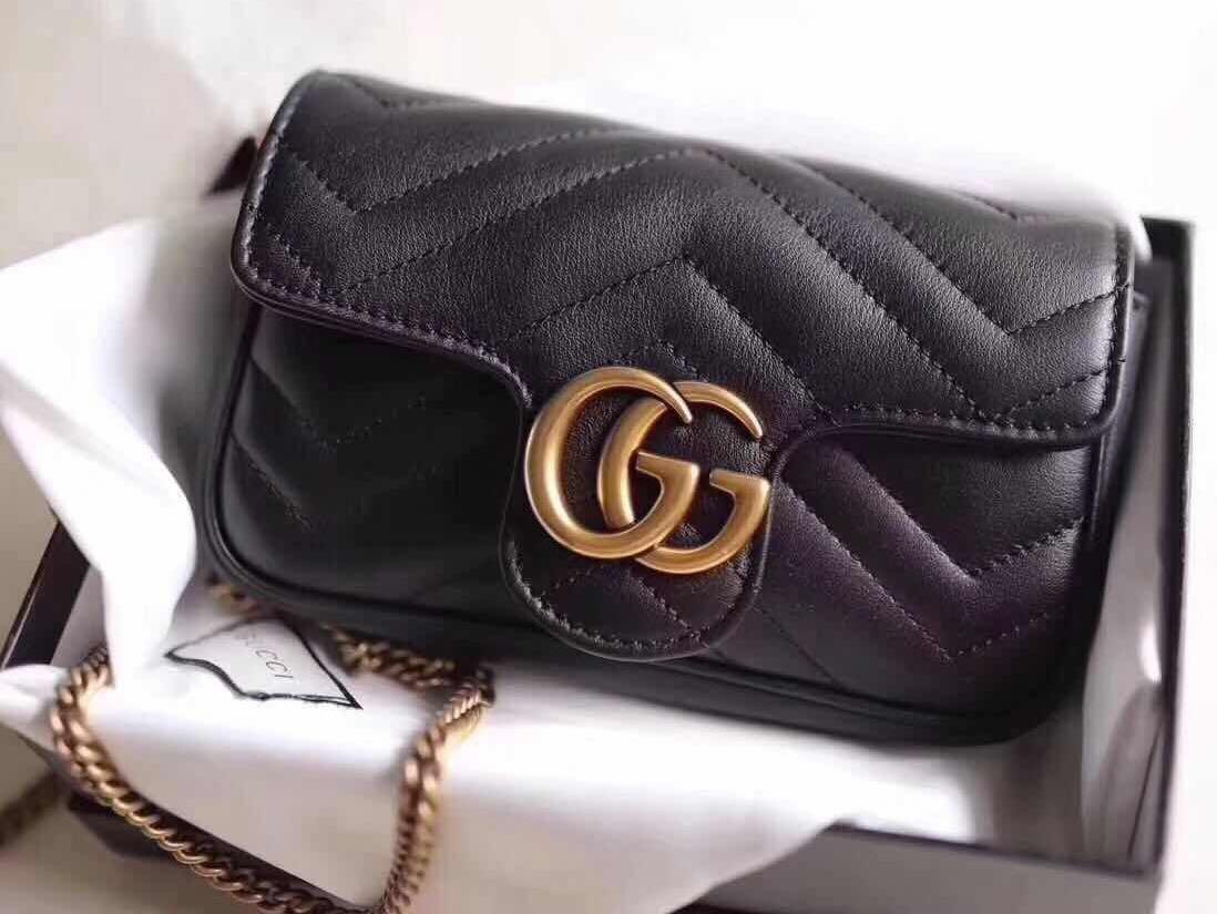 8bf3c4487d4 👍🏻BEST SELLING Gucci GG Marmont Matelassé Super Mini Sling Belt ...