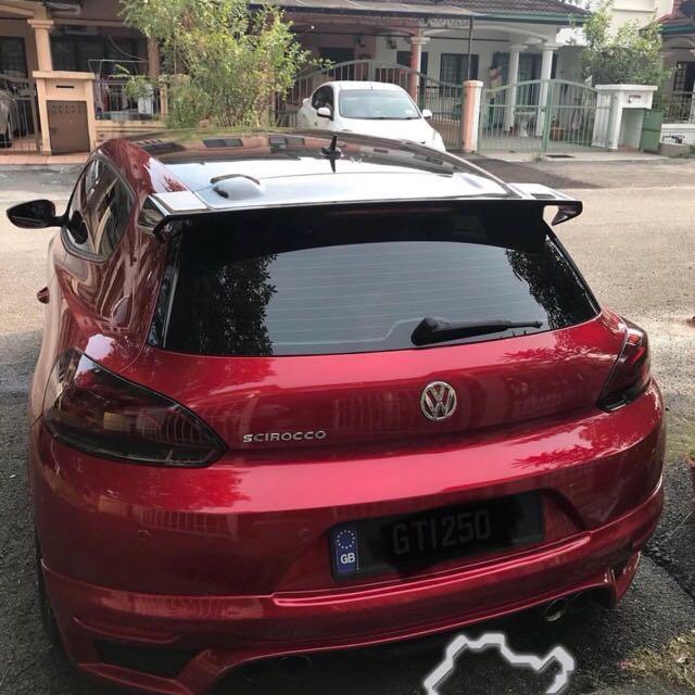 Bnib Volkswagen Scirocco Carbon Fiber R Cup Spoiler Car