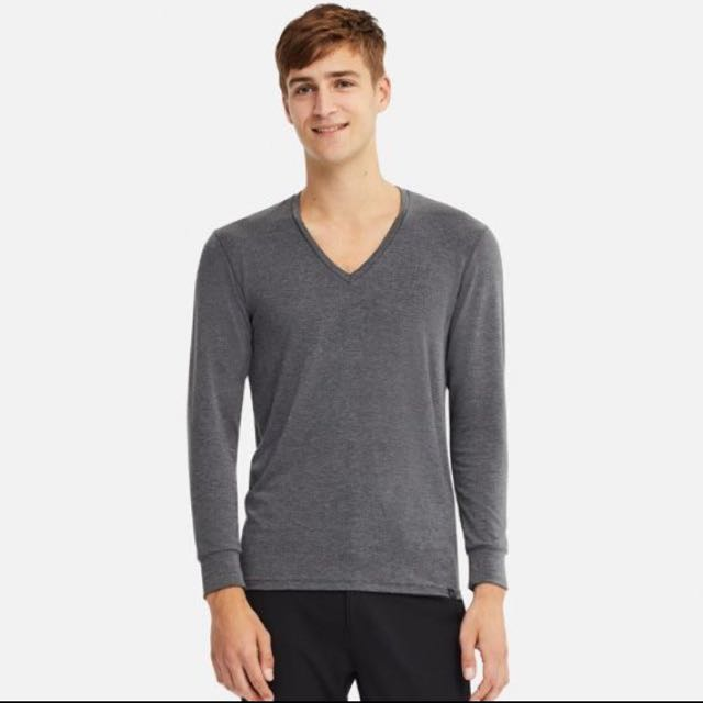 a785b09f BNIP Men's HeatTech Extra Warm V-Neck Long Sleeve T-Shirt, Men's Fashion,  Clothes, Tops on Carousell