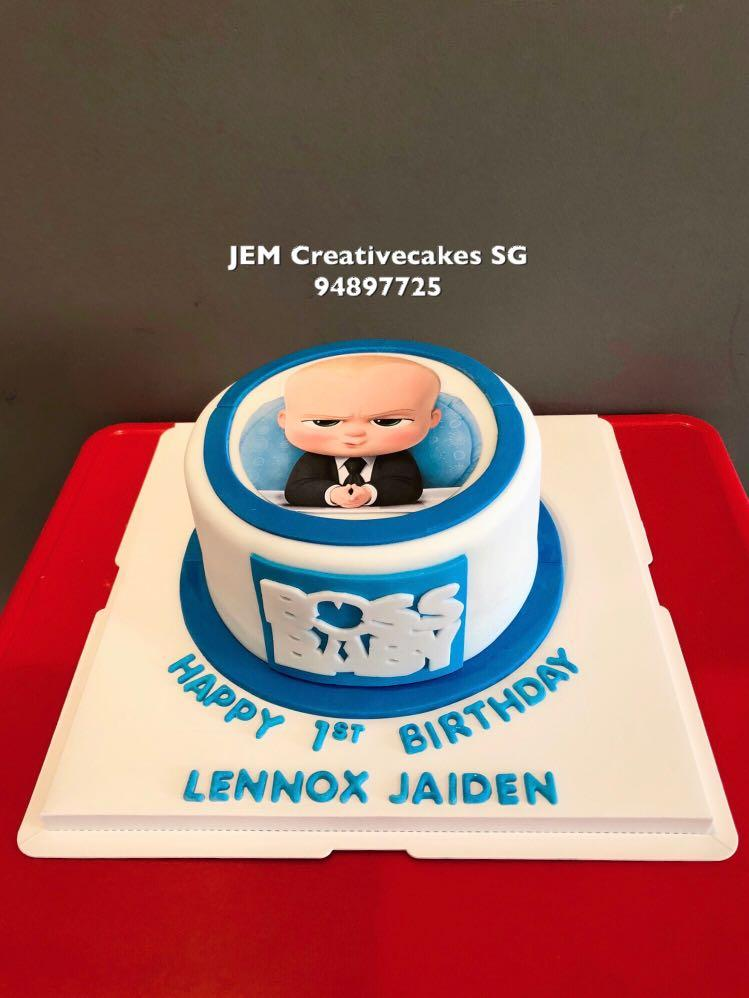 Miraculous Boss Baby Birthday Cake Food Drinks Baked Goods On Carousell Personalised Birthday Cards Paralily Jamesorg