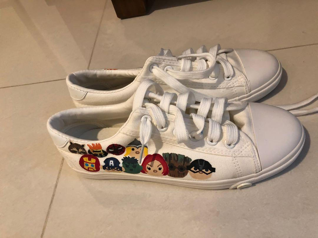 Brand new hand painted sneakers from Bangkok