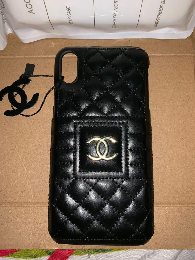 finest selection 72b56 a3c7d Chanel Black Quilted for Iphone XS Max on Carousell