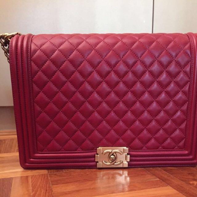 85b629150c5c Chanel Boy Bag Maxi, Luxury on Carousell