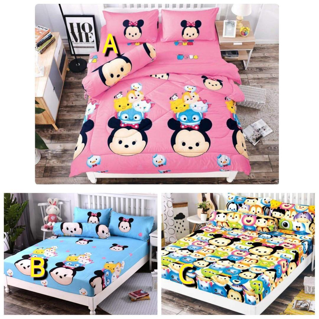Cheapest Price In Town‼️Tsum Tsum Queen Size Bedsheets